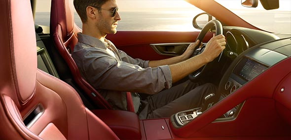 F-TYPE Interior Safety Features