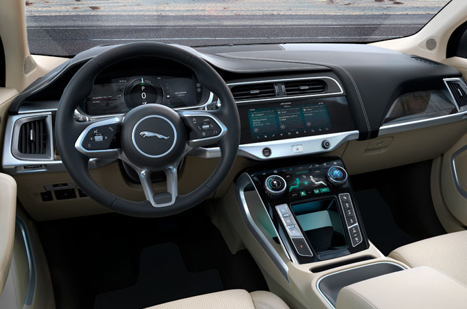 Jaguar I-PACE front interior view