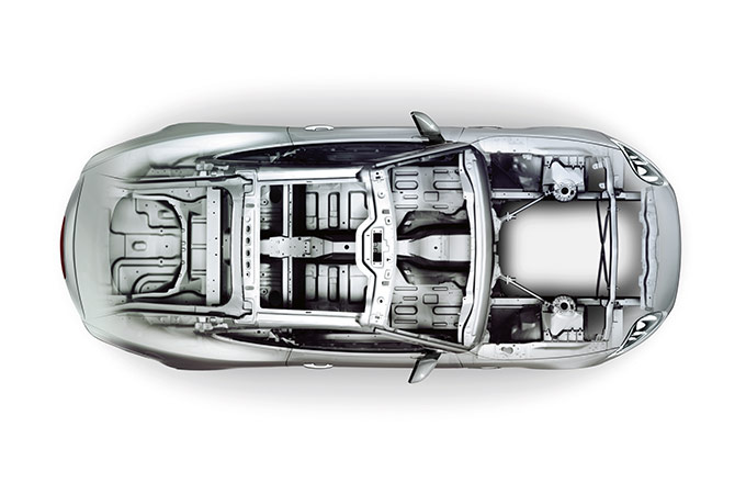 Jaguar XK X-Ray aluminium body.