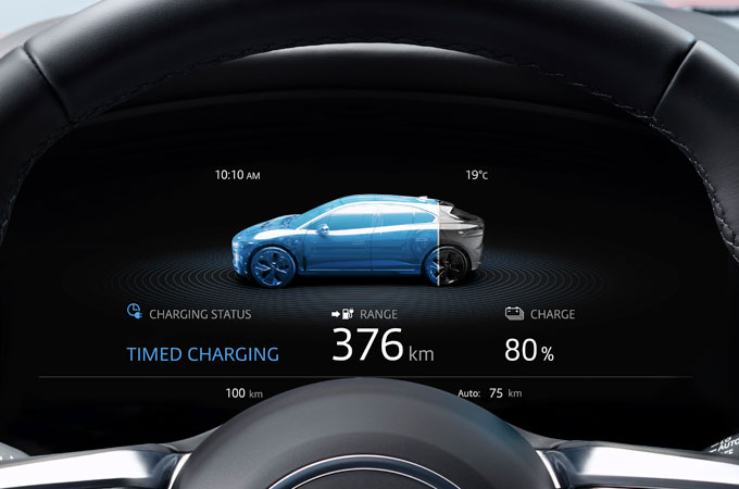 Jaguar I-PACE Dashboard Display