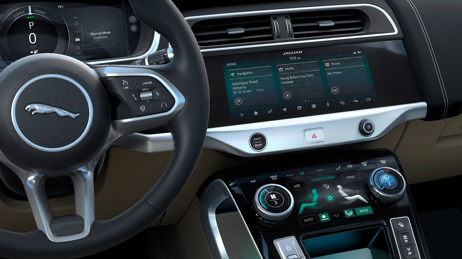 Jaguar I-Pace Dashboard And Controls