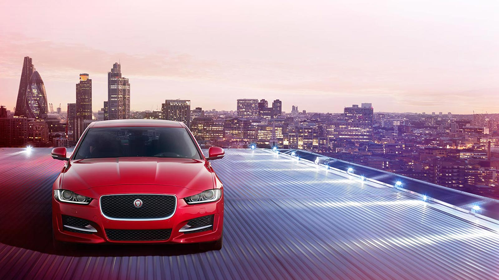 Front view of Jaguar XE.