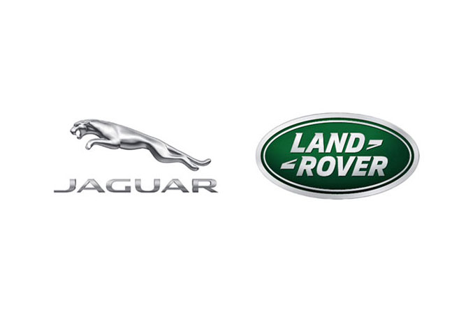 Jaguar and LAND ROVER LOGO'S SIDE BY SIDE.