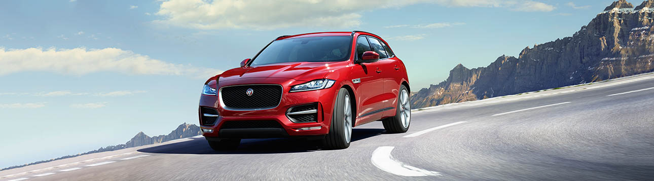 F-PACE on the road.
