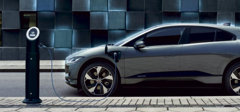 I-PACE 100% ELECTRIC CHARGING AT A POWER STATION