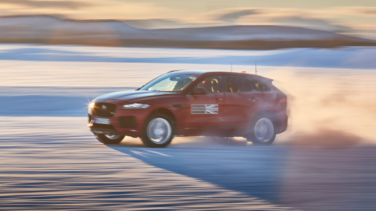 Ice Drive - Jaguar E-PACE driving on the ice.