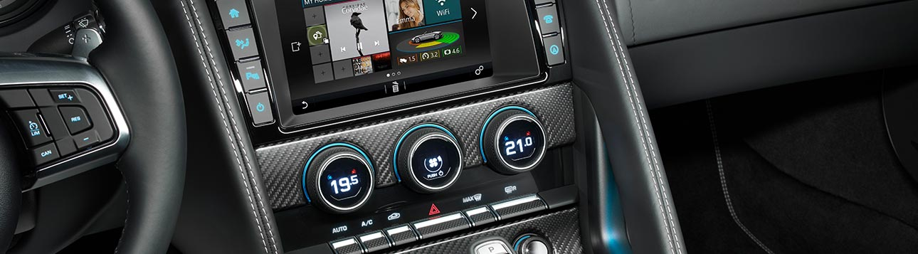 Home Page of Jaguar XF's Dashboard Screen.