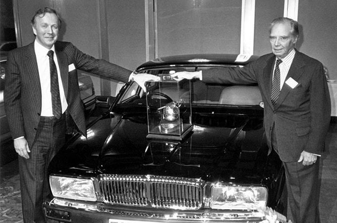 Jaguar XJ40 At The 1987 Top Car Awards.