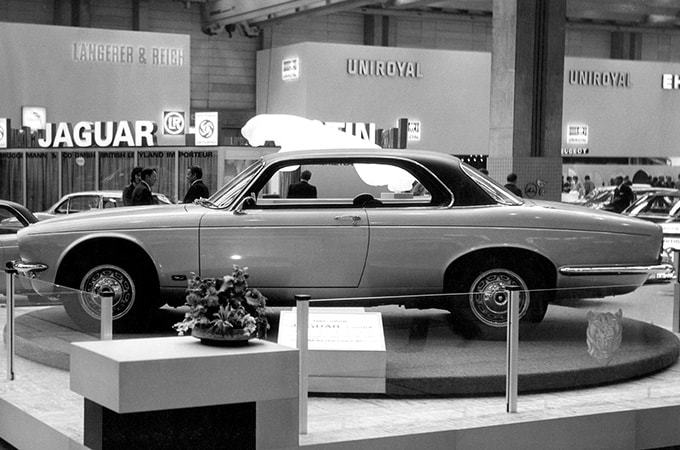 Photo Of A Jaguar XJ Series 2 At The 1973 Frankfut Motorshow.
