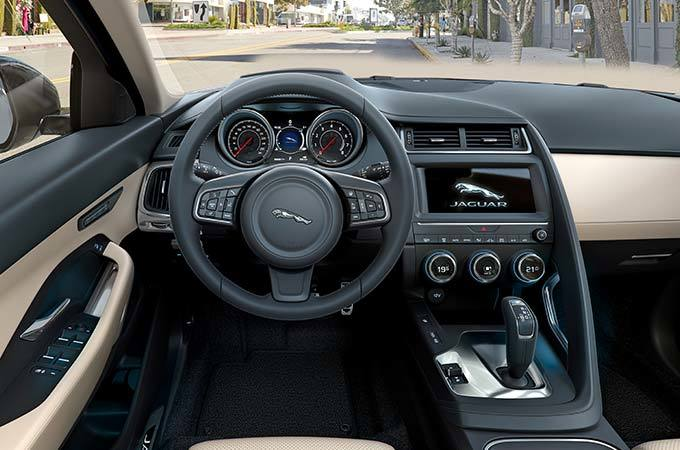 A Jaguar E-PACE Steering Wheel And Dashboard