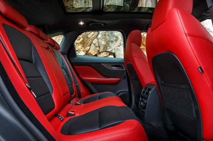 Red Interior Seating Of An F-PACE