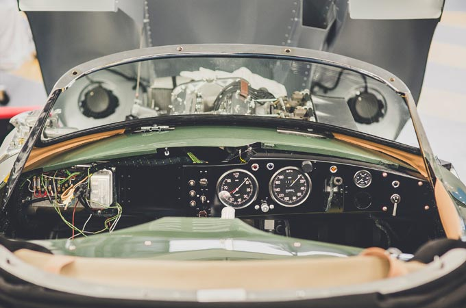The classic dashboard from the Jaguar XKSS