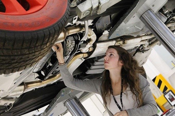 Emma Wildling Working On A Vehicle