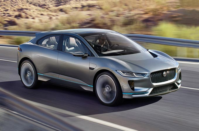 Jaguar I-PACE Driving On A Road
