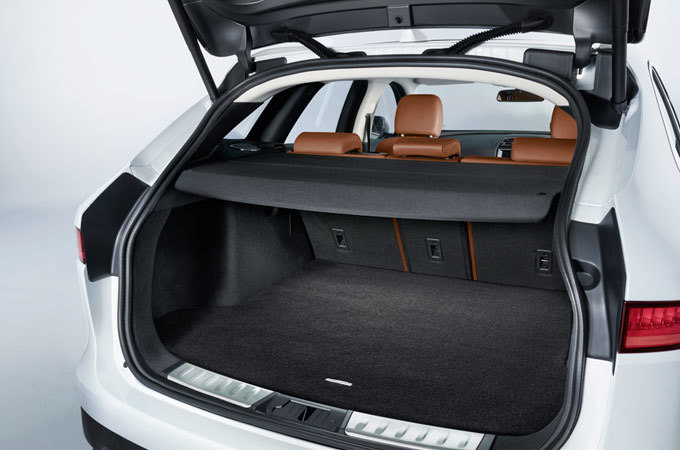 Boot space of a Jaguar F-PACE.