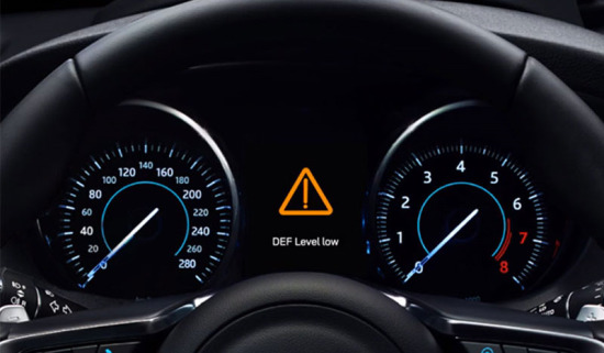 Ad Blue - Steering Wheel and HUD.