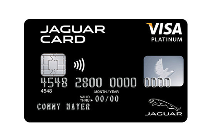 Jaguar Platinum Visa Card.