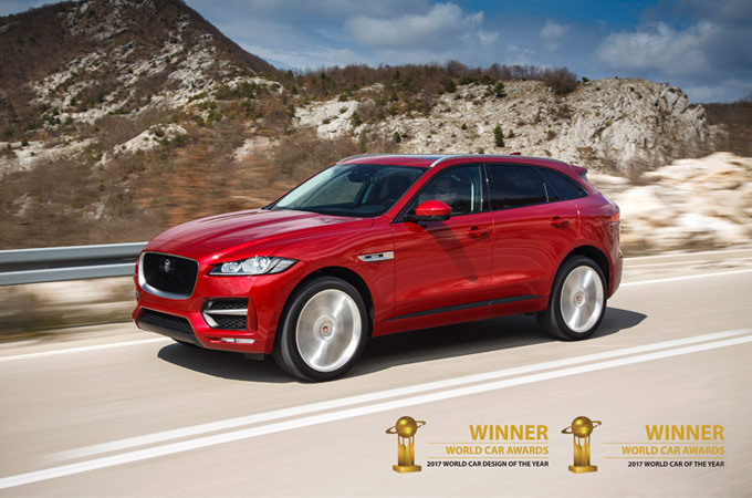 Red F-Pace awards.