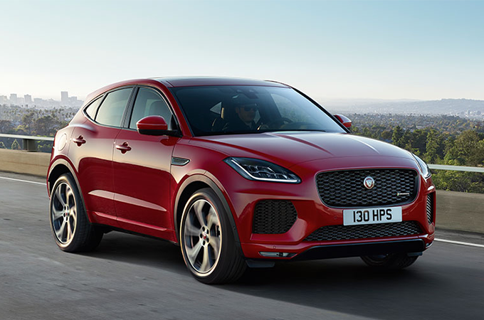 JAGUAR E-PACE IN RED