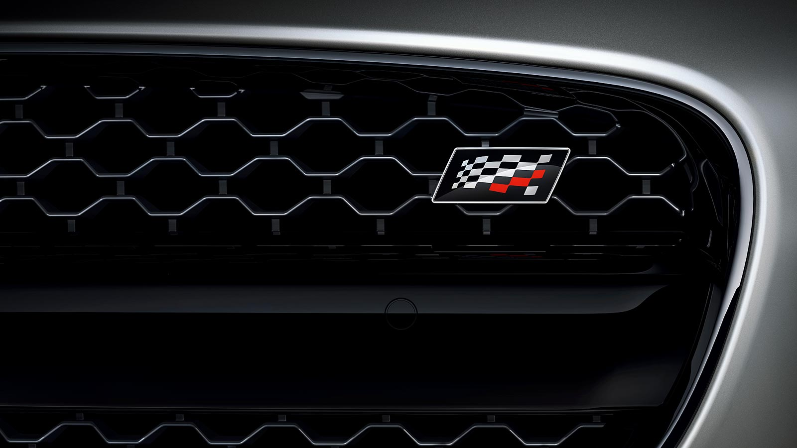 F-TYPE Mesh Front Grill with Checkered Flag Badge