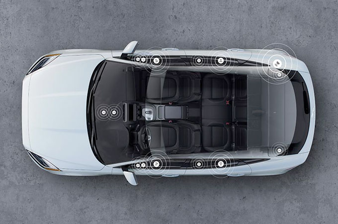 Top view of white E-PACE.