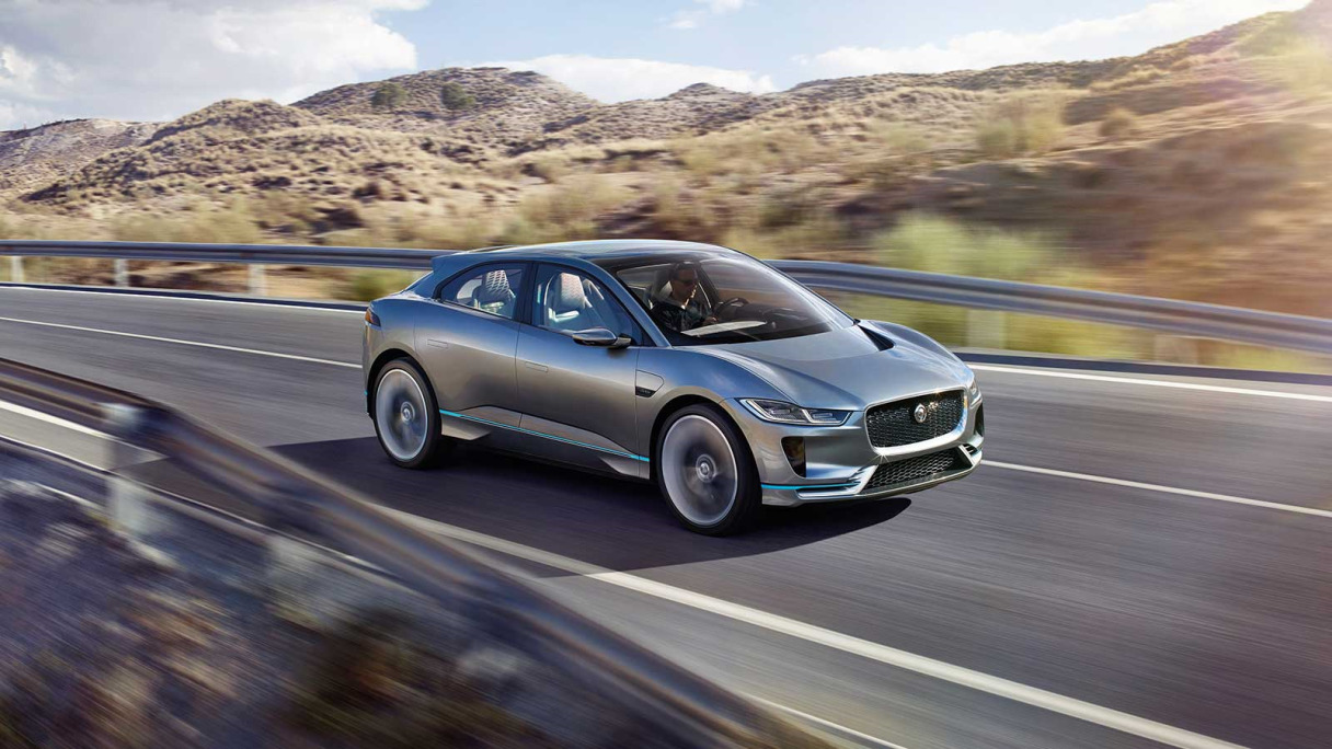 i-pace driving on road.