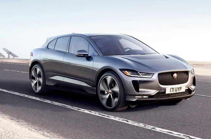 Jaguar I-PACE in Corris Grey.