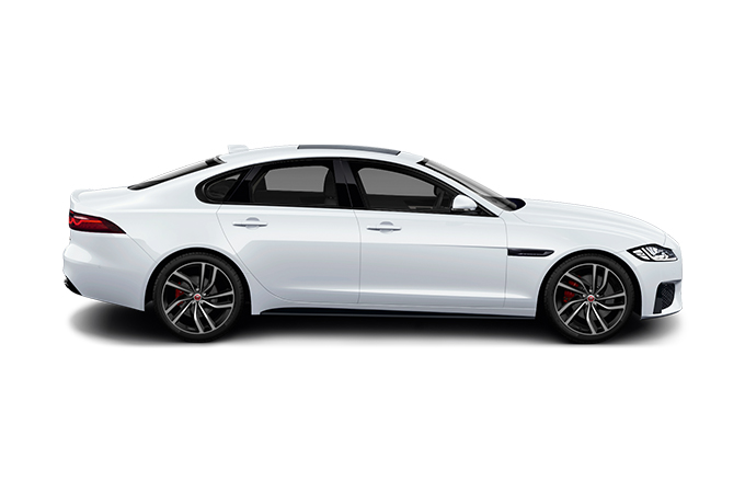 Jaguar XF Saloon sideview.