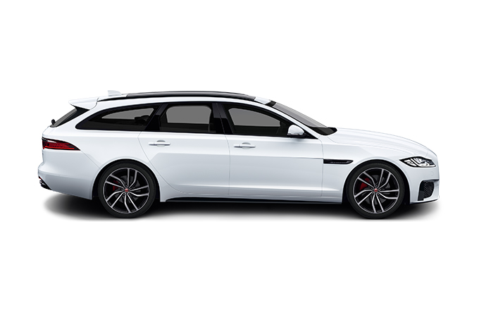 Jaguar XF Sportbrake side view.
