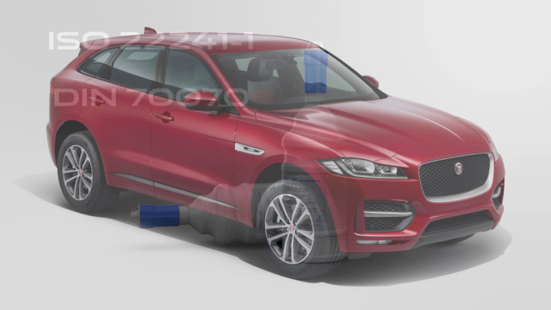 Red F-Pace.