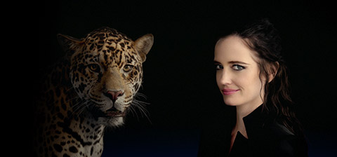Eva and a jaguar cat.