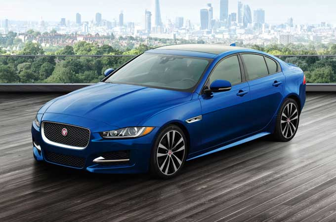 Jaguar XE in Blue.