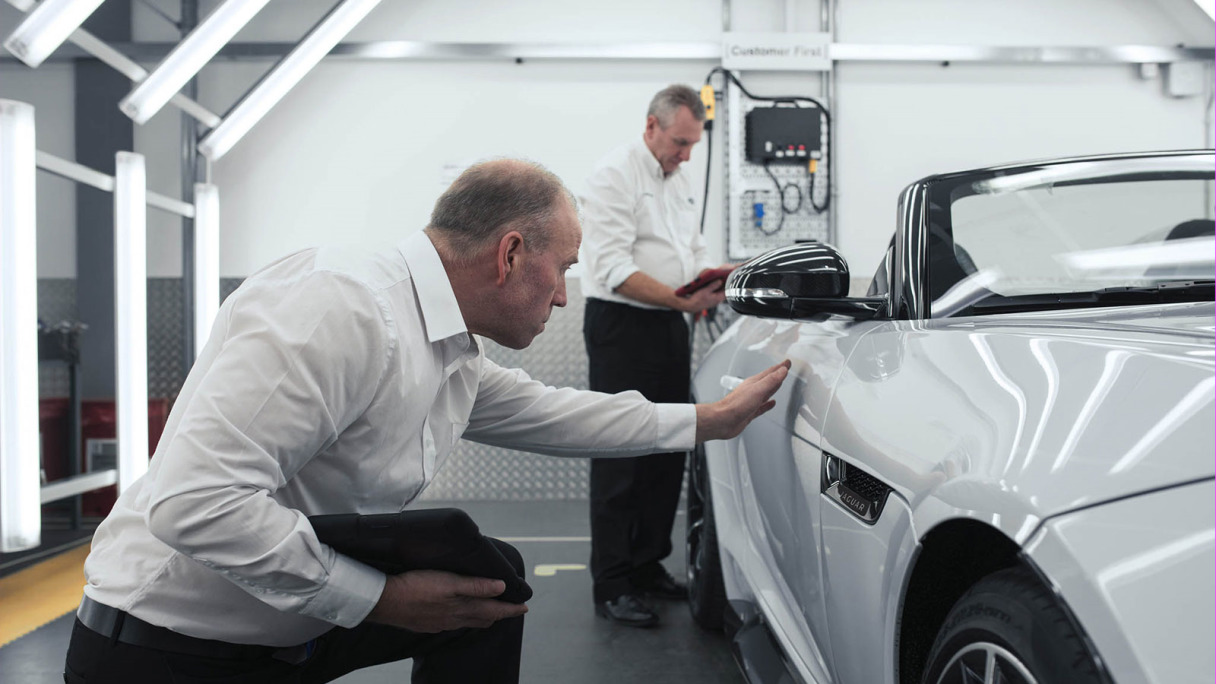 Inspection of F-TYPE in SVO Facility.
