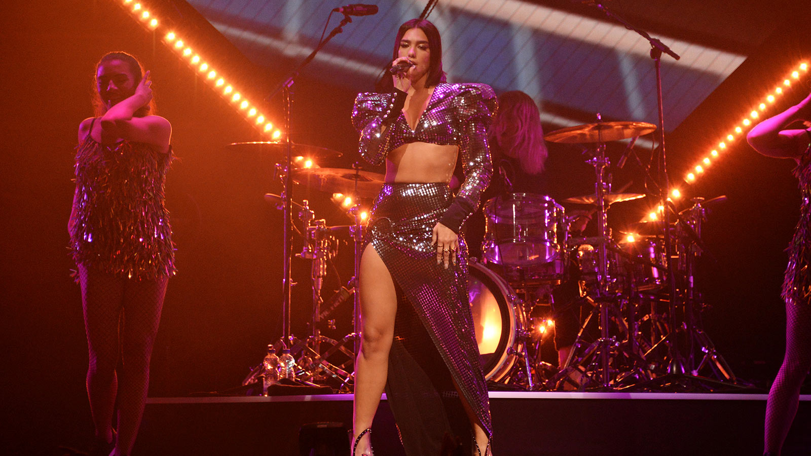 Dua Lipa on-stage in Amsterdam