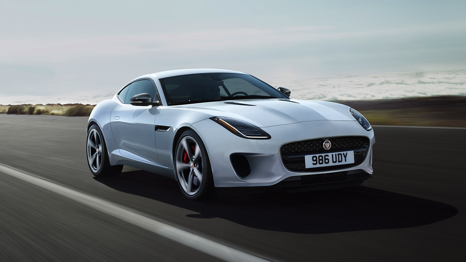 F-TYPE R in Yulong White Front-Side View