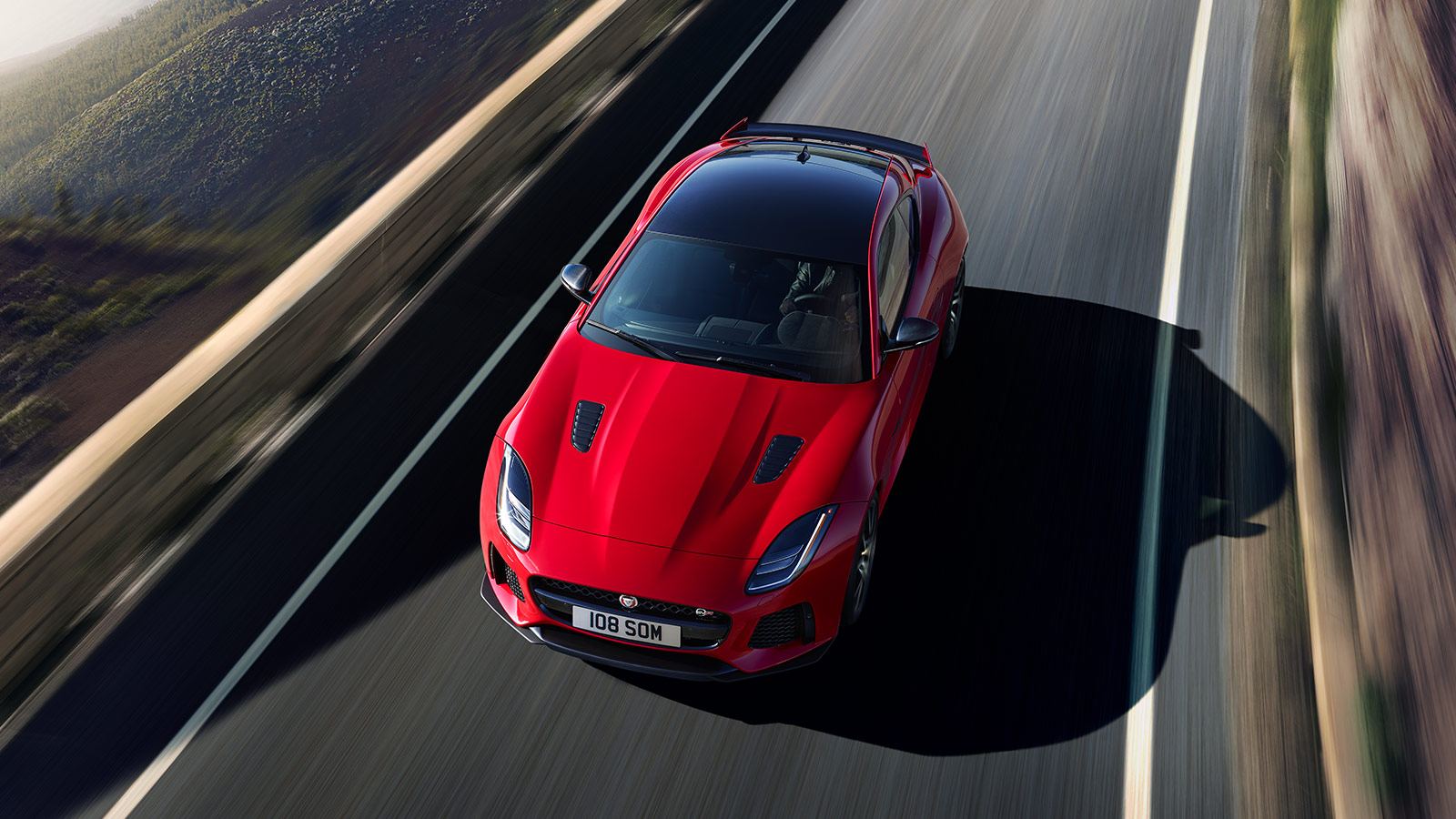 F-TYPE SVR in Caldera Red Top View