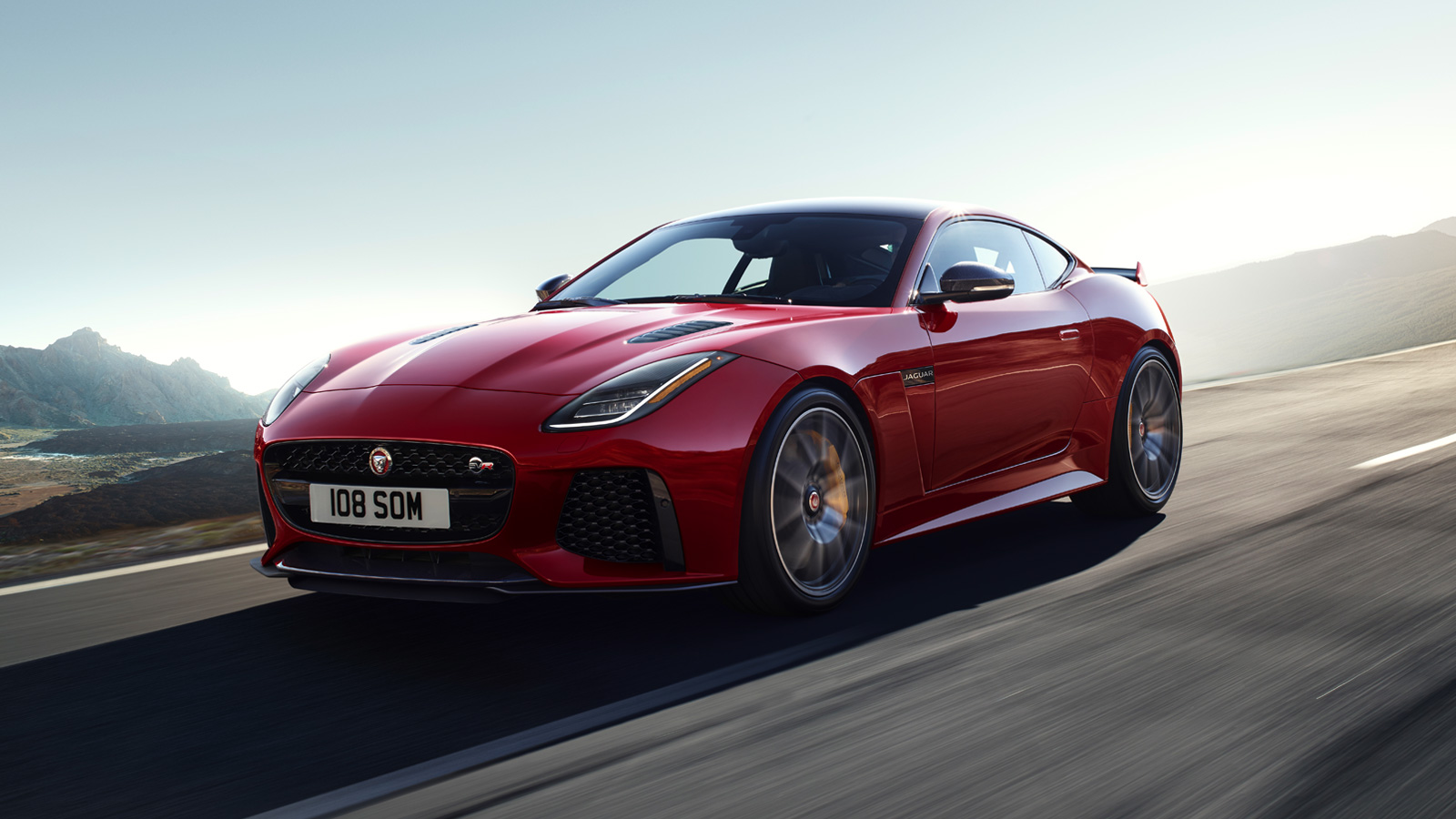 F-TYPE SVR in Caldera Red on Open Road