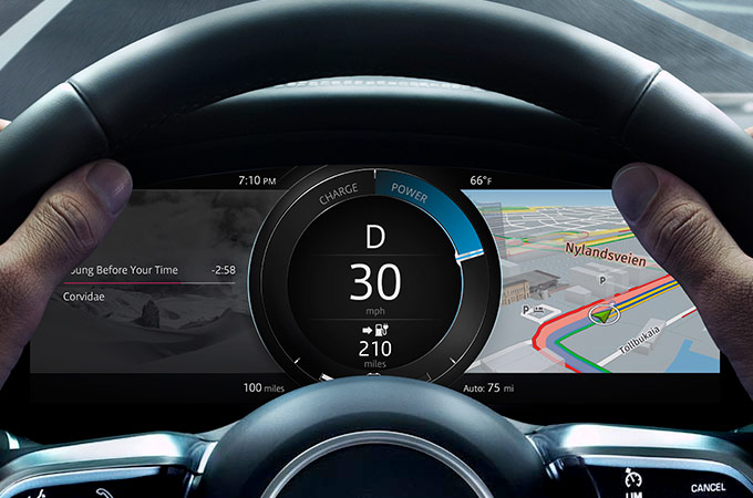 I-Pace Interactive Driver Display.