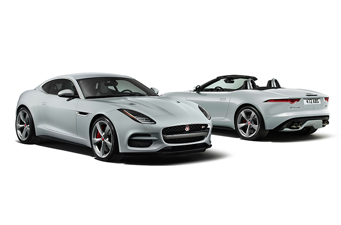 F-TYPE R exterior front and rear