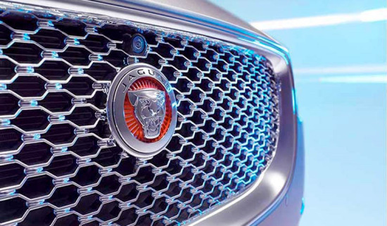 Jaguar grill close-up.