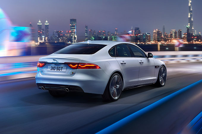 Rear View of XF.
