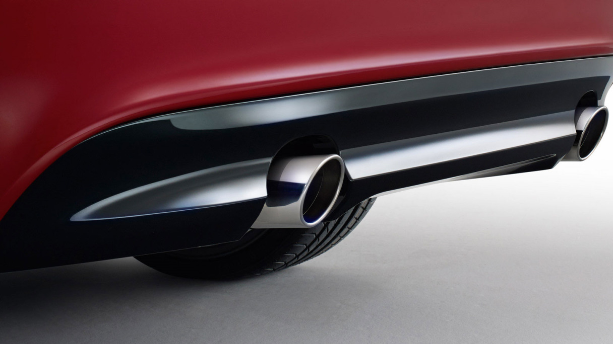 Close up of an XE Exhaust.