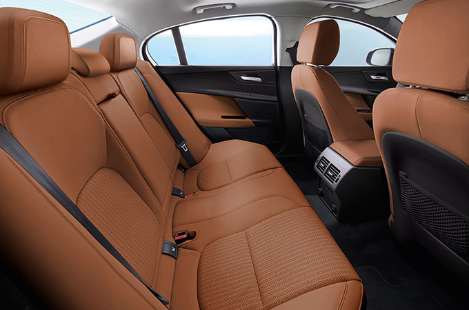 Jaguar XE rear seats.