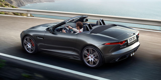 Jaguar F-Type Convertible Chequered Flag Edition.