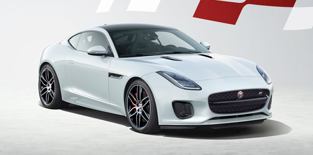 Jaguar F-Type Coupé Chequered Flag Edition.