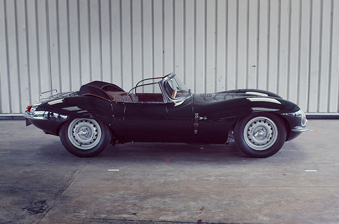 Old convertable Jag.