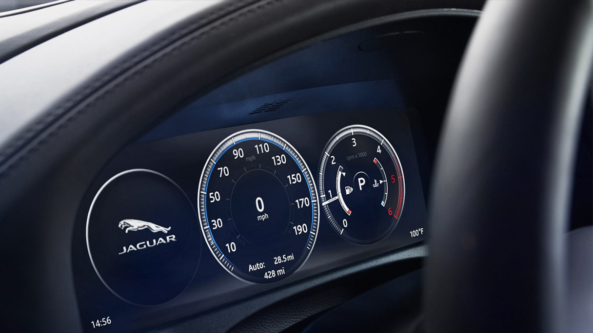 Video Of Jaguar XFL Dashboard Display