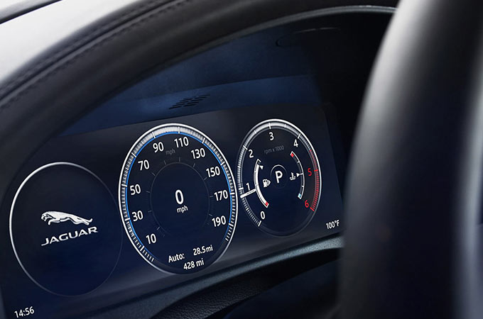 Jaguar XF Interactive Driver Display Virtual Instrument Cluster.