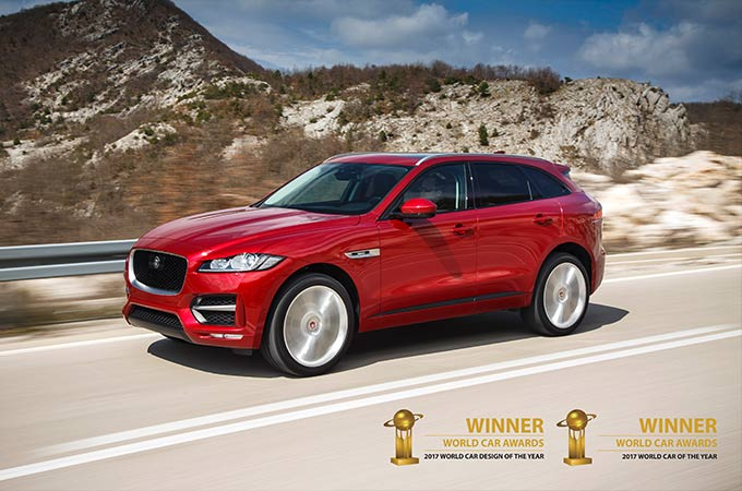 F-PACE awarded both Best and Most Beautiful at World Car Awards 2017.