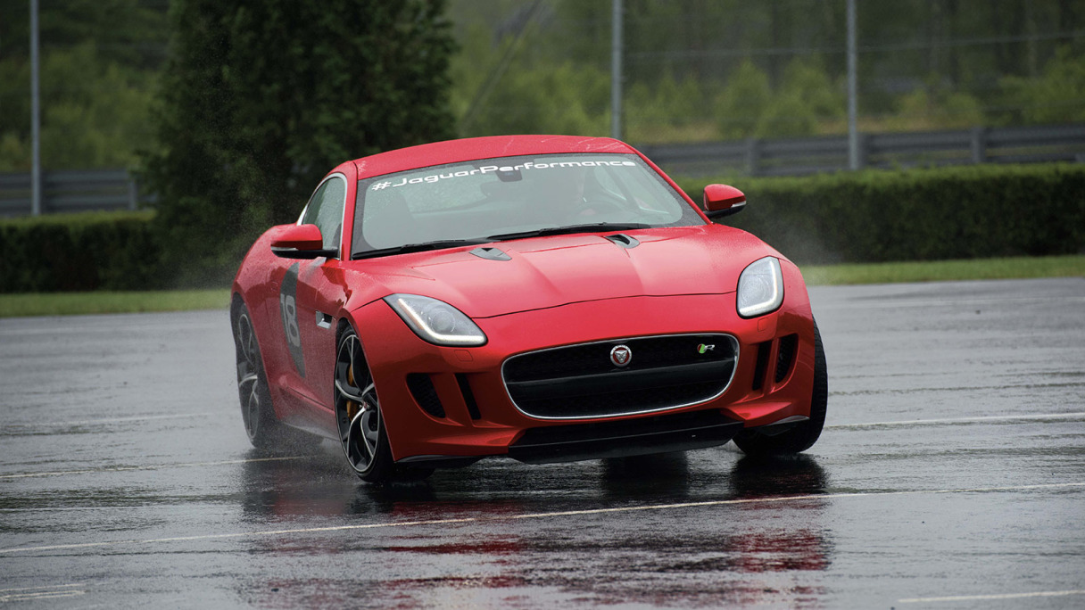 F-TYPE being used in Half-Day Driving Experience.